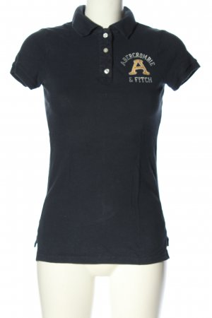 Abercrombie & Fitch Camiseta estampada negro letras impresas look casual