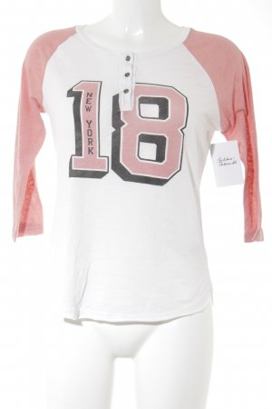 Abercrombie & Fitch Print-Shirt weiß-rosa Casual-Look