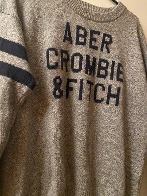 Abercrombie & Fitch Pullober grau blau L