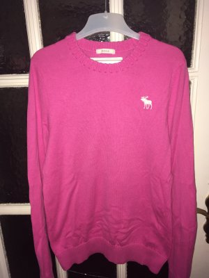 Abercrombie & Fitch Jersey de cuello redondo rosa Algodón