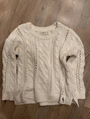 Abercrombie & Fitch Pullover strick weiß