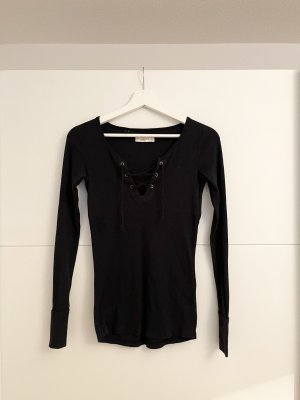 Abercrombie & Fitch Ribbed Shirt black