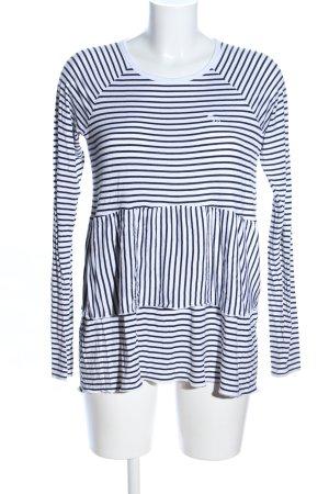 Abercrombie & Fitch T-shirt rayé bleu-blanc motif rayé style d'affaires