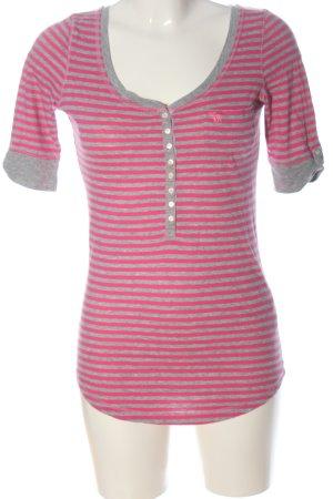 Abercrombie & Fitch Ringelshirt pink-hellgrau meliert Casual-Look
