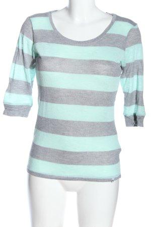 Abercrombie & Fitch Gestreept shirt lichtgrijs-turkoois gestippeld
