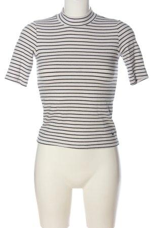 Abercrombie & Fitch Ringelshirt weiß-schwarz Allover-Druck Casual-Look