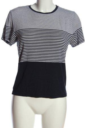 Abercrombie & Fitch Ringelshirt schwarz-weiß Streifenmuster Casual-Look