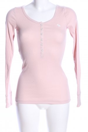 Abercrombie & Fitch Rippshirt pink Casual-Look