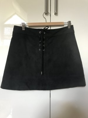 Abercrombie & Fitch Faux Leather Skirt black