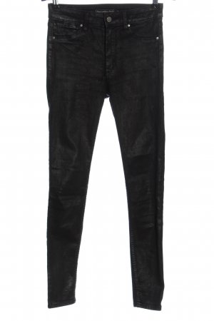 Abercrombie & Fitch Drainpipe Trousers black party style