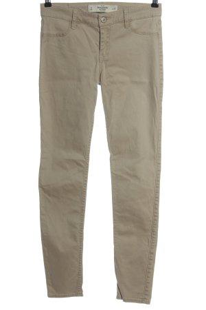 Abercrombie & Fitch Pantalon cigarette blanc cassé style décontracté