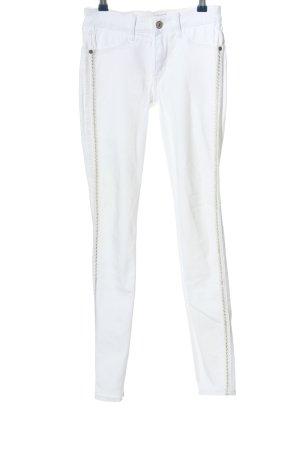 Abercrombie & Fitch Röhrenhose weiß-silberfarben Casual-Look