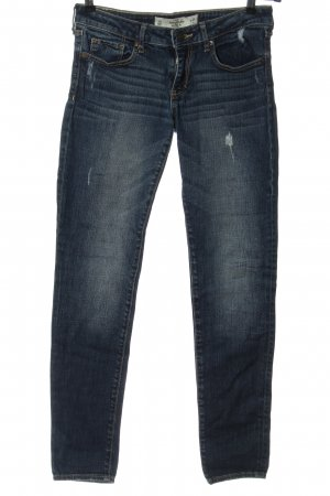 Abercrombie & Fitch Tube jeans blauw casual uitstraling