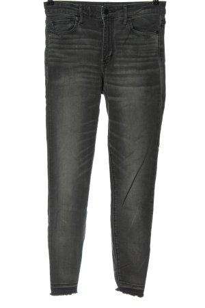 Abercrombie & Fitch Jeans cigarette gris clair style décontracté