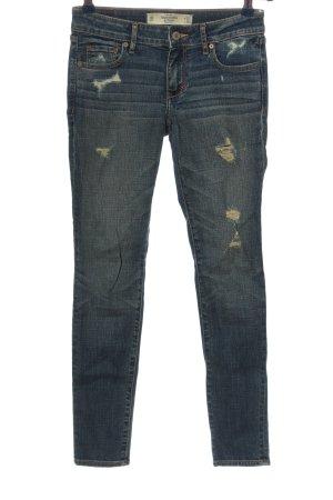 Abercrombie & Fitch Jeans a sigaretta blu stile casual
