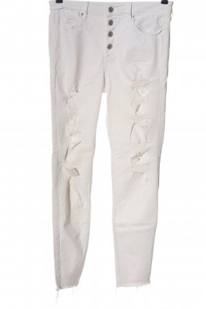 Abercrombie & Fitch Tube Jeans white casual look