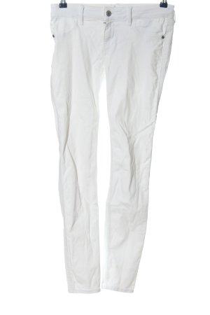 Abercrombie & Fitch Jeansy rurki biały W stylu casual