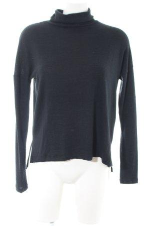 Abercrombie & Fitch Jersey de cuello alto azul look casual