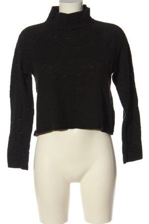 Abercrombie & Fitch Jersey de cuello alto negro look casual