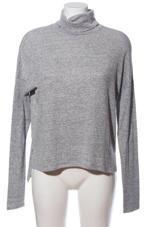 Abercrombie & Fitch Jersey de cuello alto gris claro moteado look casual