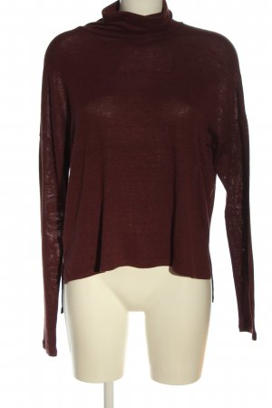 Abercrombie & Fitch Turtleneck Shirt brown flecked casual look