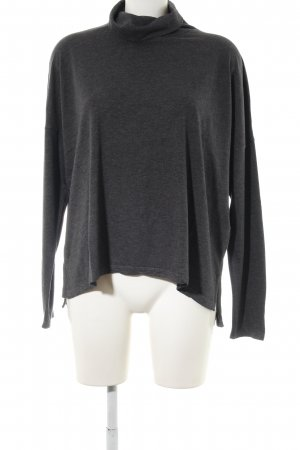 Abercrombie & Fitch Camisa de cuello de tortuga negro moteado look casual