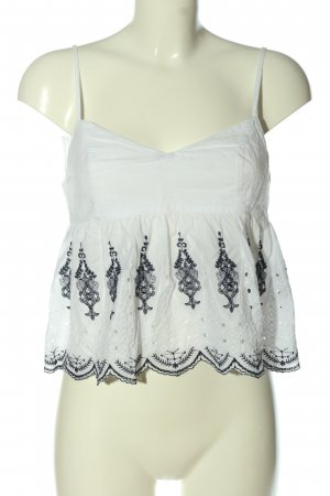 Abercrombie & Fitch Backless Top white-black casual look