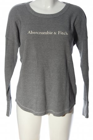 Abercrombie & Fitch Crewneck Sweater light grey flecked casual look