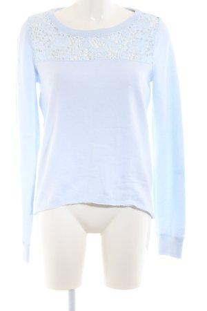 Abercrombie & Fitch Rundhalspullover blau Casual-Look