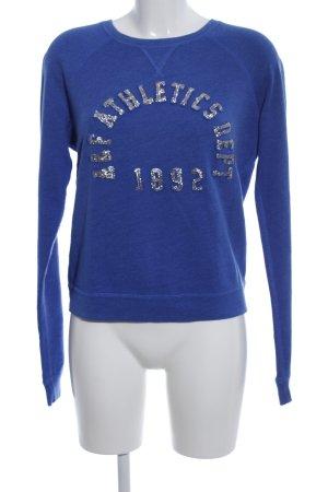 Abercrombie & Fitch Rundhalspullover blau-silberfarben meliert Casual-Look