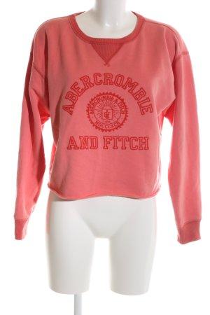 Abercrombie & Fitch Rundhalspullover rot Motivdruck schlichter Stil