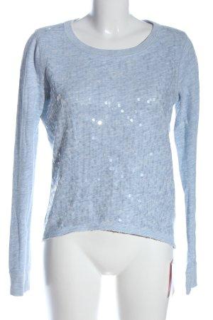 Abercrombie & Fitch Rundhalspullover blau meliert Casual-Look