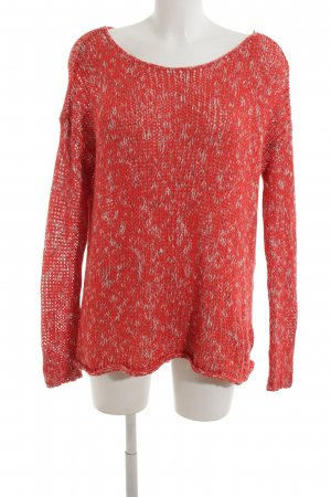 Abercrombie & Fitch Rundhalspullover rot-weiß meliert Casual-Look