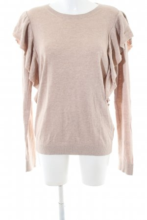 Abercrombie & Fitch Rundhalspullover nude meliert Casual-Look