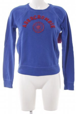 Abercrombie & Fitch Rundhalspullover blau Webmuster Casual-Look