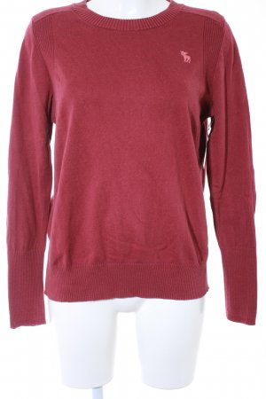 Abercrombie & Fitch Rundhalspullover bordeauxrot Casual-Look
