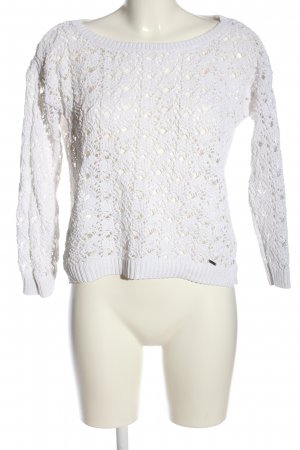 Abercrombie & Fitch Strickpullover weiß Casual-Look