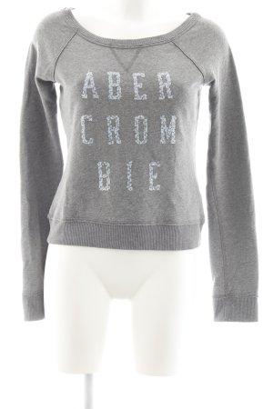 Abercrombie & Fitch Rundhalspullover grau schlichter Stil