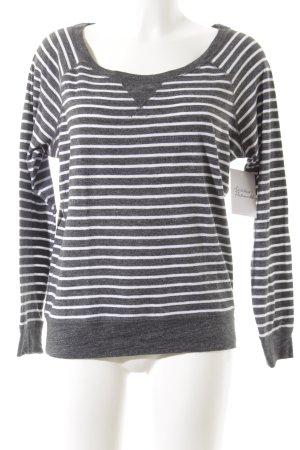Abercrombie & Fitch Rundhalspullover grau-weiß meliert Street-Fashion-Look