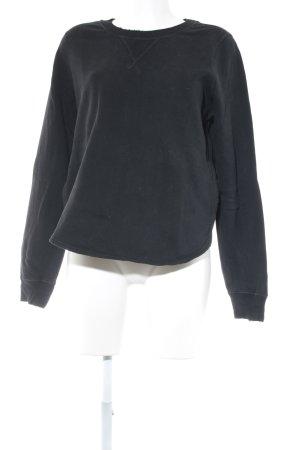 Abercrombie & Fitch Rundhalspullover schwarz Casual-Look