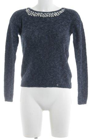 Abercrombie & Fitch Rundhalspullover stahlblau schlichter Stil