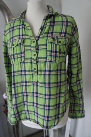 ABERCROMBIE FITCH S Hemd Bluse grün karriert