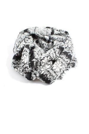 Abercrombie & Fitch Écharpe tube noir-blanc imprimé allover