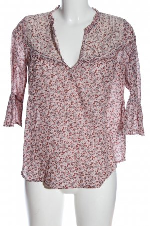 Abercrombie & Fitch Schlupf-Bluse pink-rot Allover-Druck Casual-Look