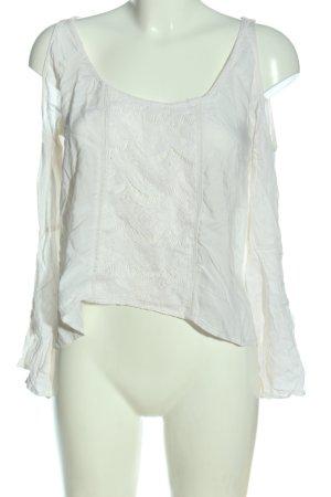 Abercrombie & Fitch Schlupf-Bluse weiß Casual-Look