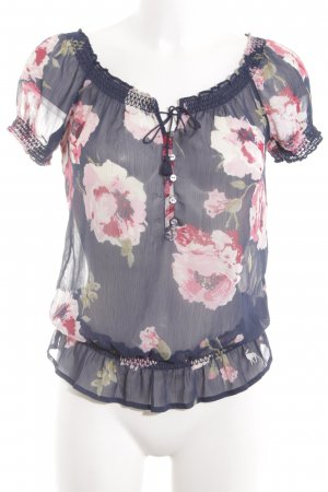 Abercrombie & Fitch Schlupf-Bluse Blumenmuster Casual-Look