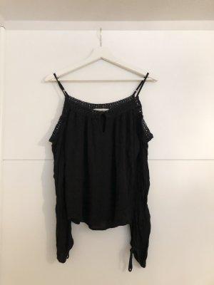 Abercrombie&Fitch Schulterfreie Bluse Spitze Schwarz S