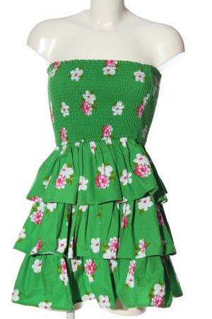 Abercrombie & Fitch Sukienka bez ramiączek Na całej powierzchni Elegancki
