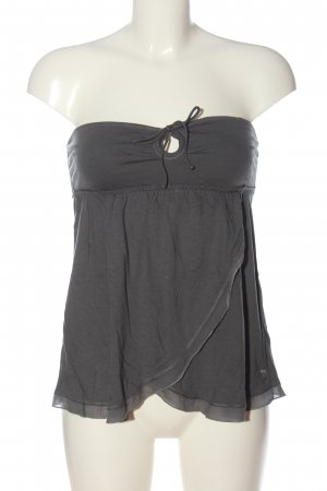 Abercrombie & Fitch schulterfreies Top hellgrau Casual-Look