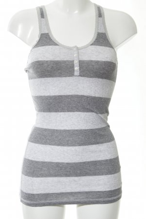 Abercrombie & Fitch Off the shoulder top lichtgrijs-wit gestreept patroon